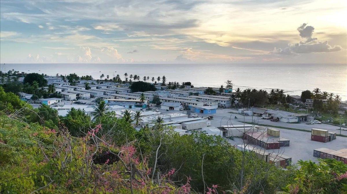 Isla de Nauru, una de las muchas que acoge a los refugiados que Australia no acepta.