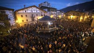 Manifestación en Alsasua en rechazo al acto de España Ciudadana.