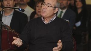 El policía nacional jubilado Pedro Mielgo Silvan, declarando ante el tribunal, este jueves.