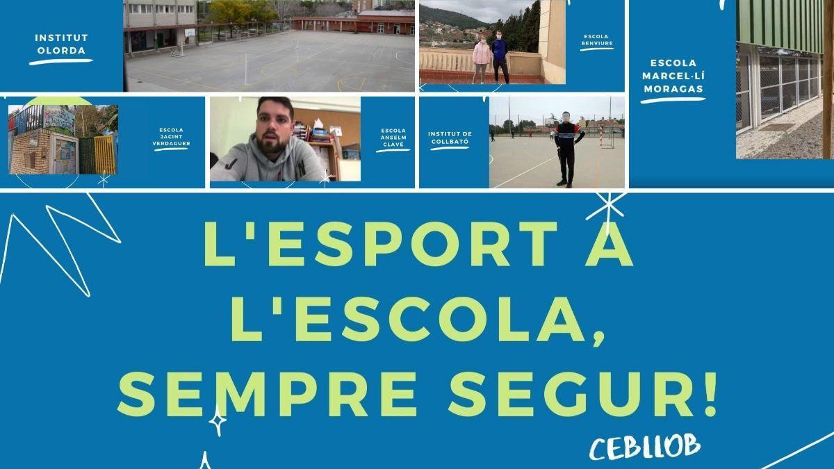 Imagen promocional de la campaña 'L'esport a l'escola, sempre segur!'