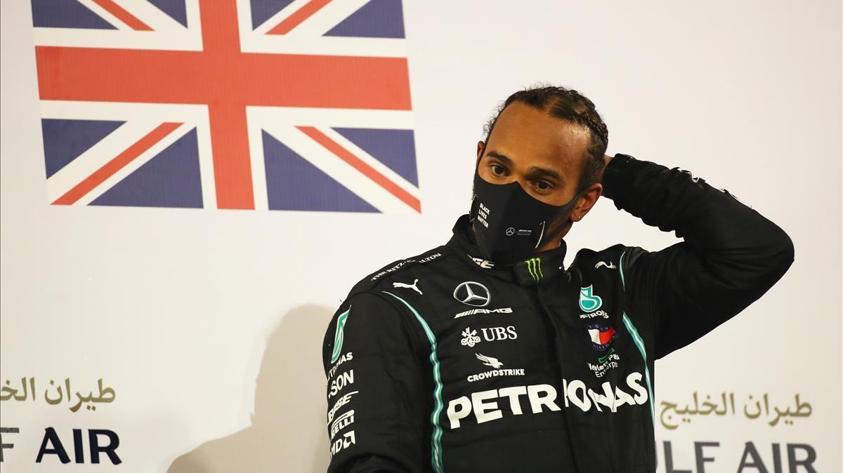 Lewis Hamilton, en Bahréin.