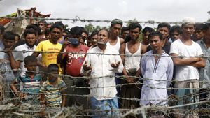 Refugiados rohingyas en la frontera entre Birmania y Bangladés.