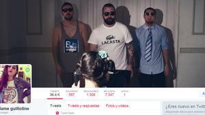 Portada de la cuenta en Twitter de María Lluch Sancho, alias Madame Guillotine en la red social