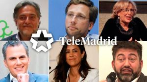 Los candidatos que participarán en el debate municipal de Telemadrid.