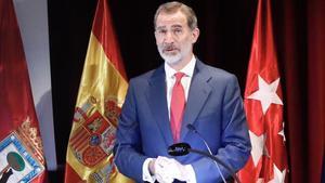 El rey Felipe VI, la semana pasada, durante la presentación de la campaña 'Spain for Sure'.
