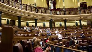 El pleno del Congreso de los Diputados durante este martes