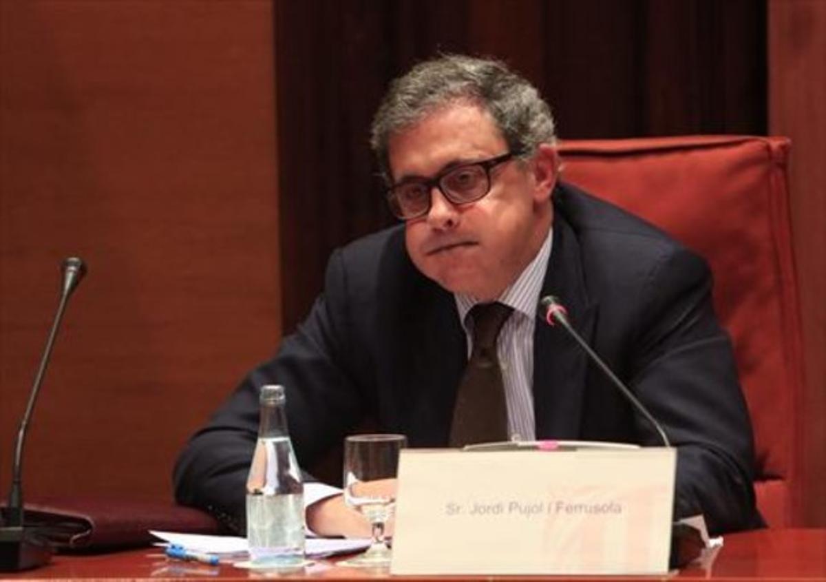 Jordi Pujol Ferrusola, en la comisión de investigación del Parlament