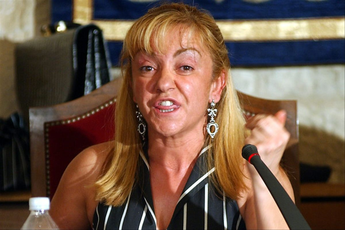 Isabel Carrasco, en el 2002.