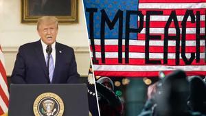 Trump se desdice y condena la violencia en el Capitolio
