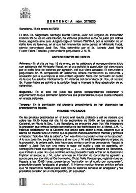 Sentencia condenatoria a Josep Bou