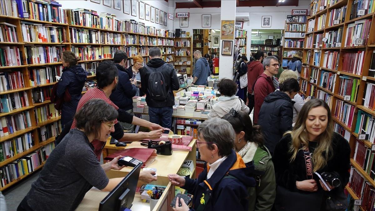La librería Taifa, el pasado Sant Jordi.