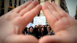 Manifestación en Barcelona contra la sentencia de la Manada.