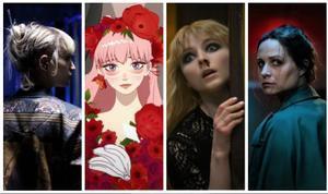Fotogramas de 'Titane', 'Belle', 'Última noche en el Soho' y 'Censor'