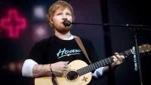 El músico britanico Ed Sheeran.