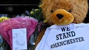 Recuerdos cerca del Manchester Arena.