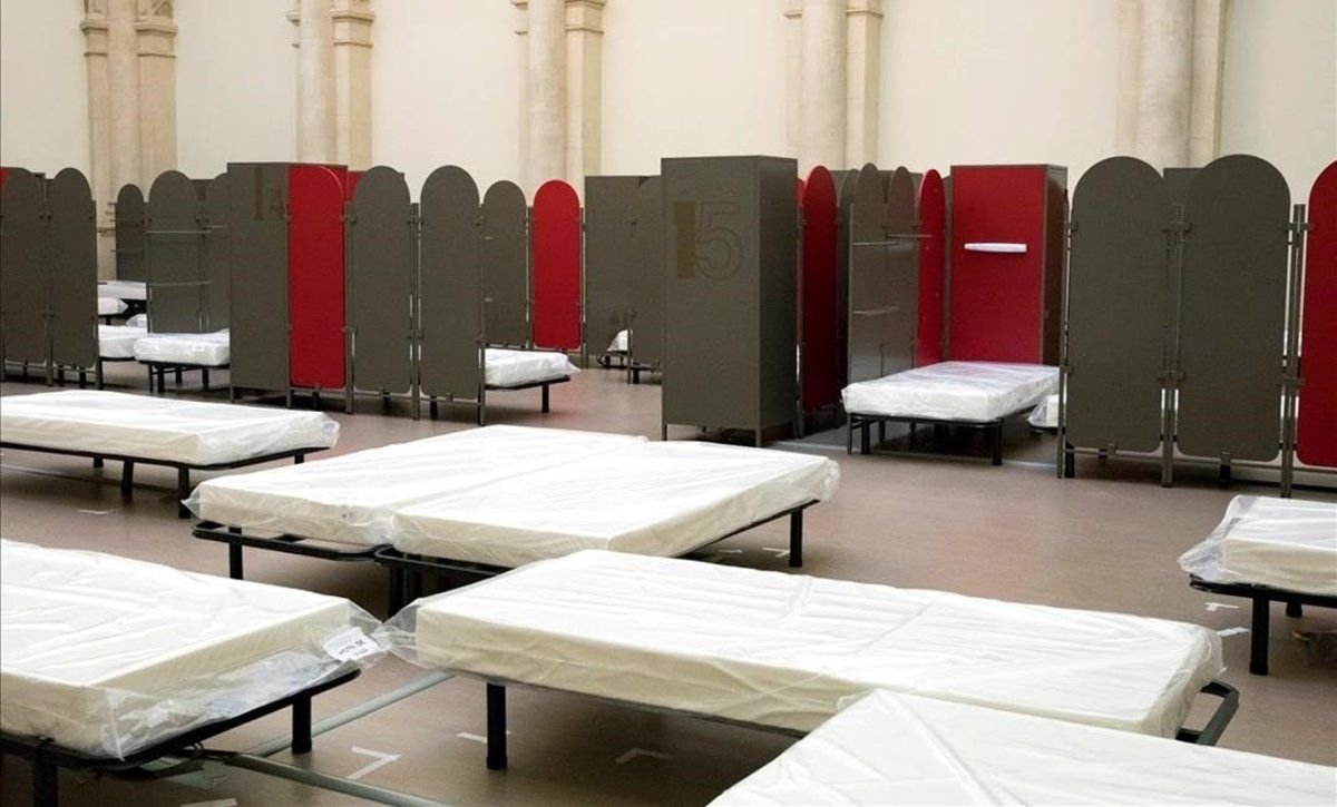 Una sala habilitada para acoger a las mujeres.
