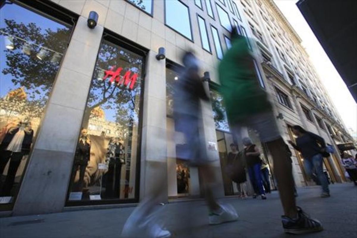 La tienda de H&M en el paseo de Gràcia.