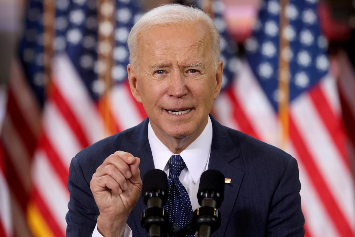 El presidente de EEUU, Joe Biden, durante la presentación de su plan sobre infraestructuras, el pasado 31 de marzo en Pittsburgh.