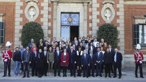 La recepción a los galardonados con los premios Ondas del 2016, en el Palauet Albéñiz de Barcelona.