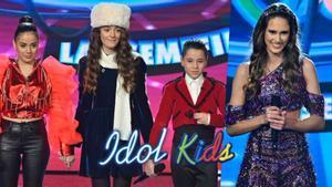 Montserrat, Natalia, Alex y Anne, finalistas de 'Idol Kids'.