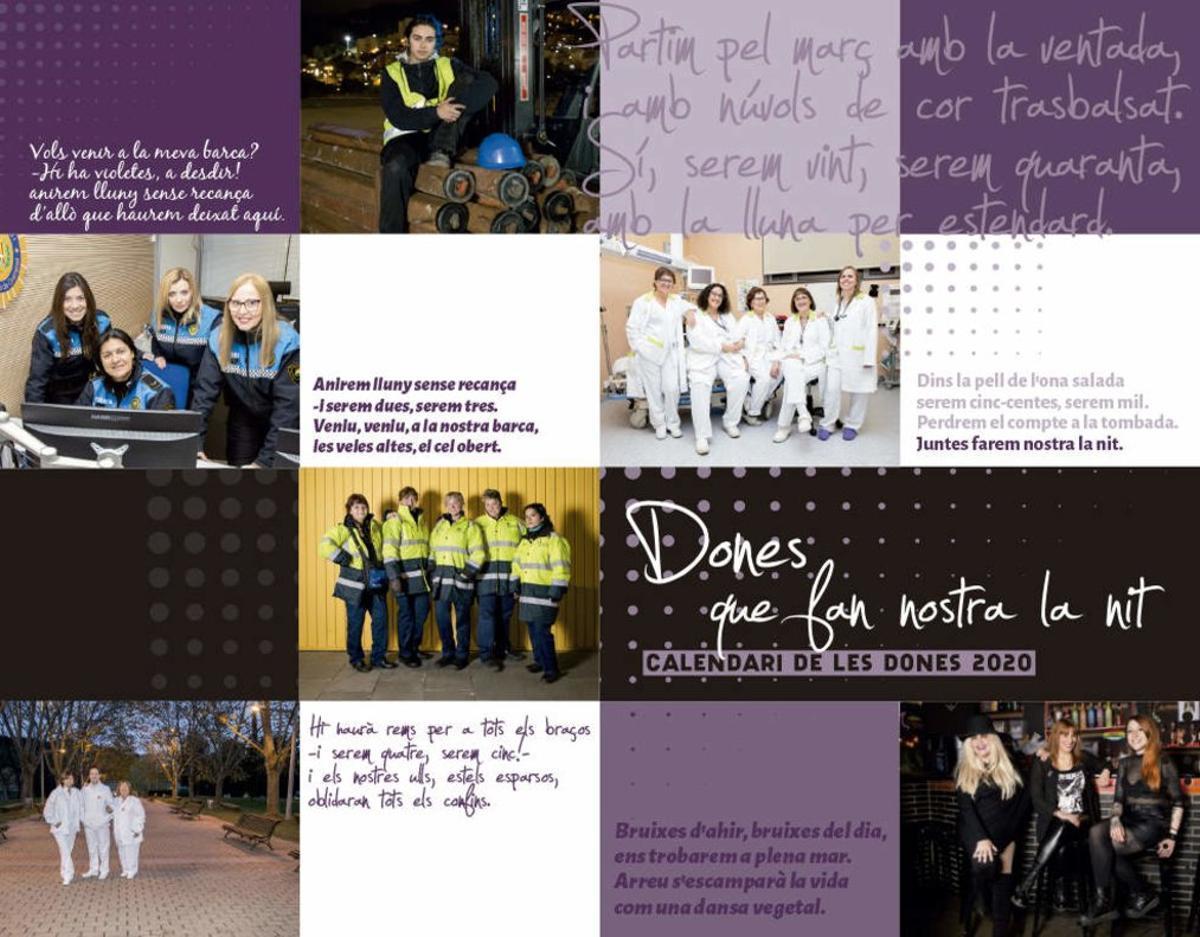 Santa Coloma presenta un calendari dedicat a les dones amb feines nocturnes