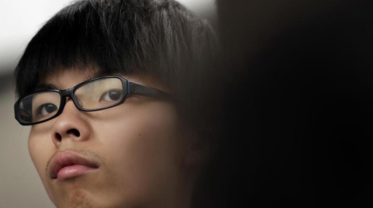El activista estudiantil Joshua Wong.