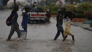 Inundaciones en Puerto Príncipe, Haití.