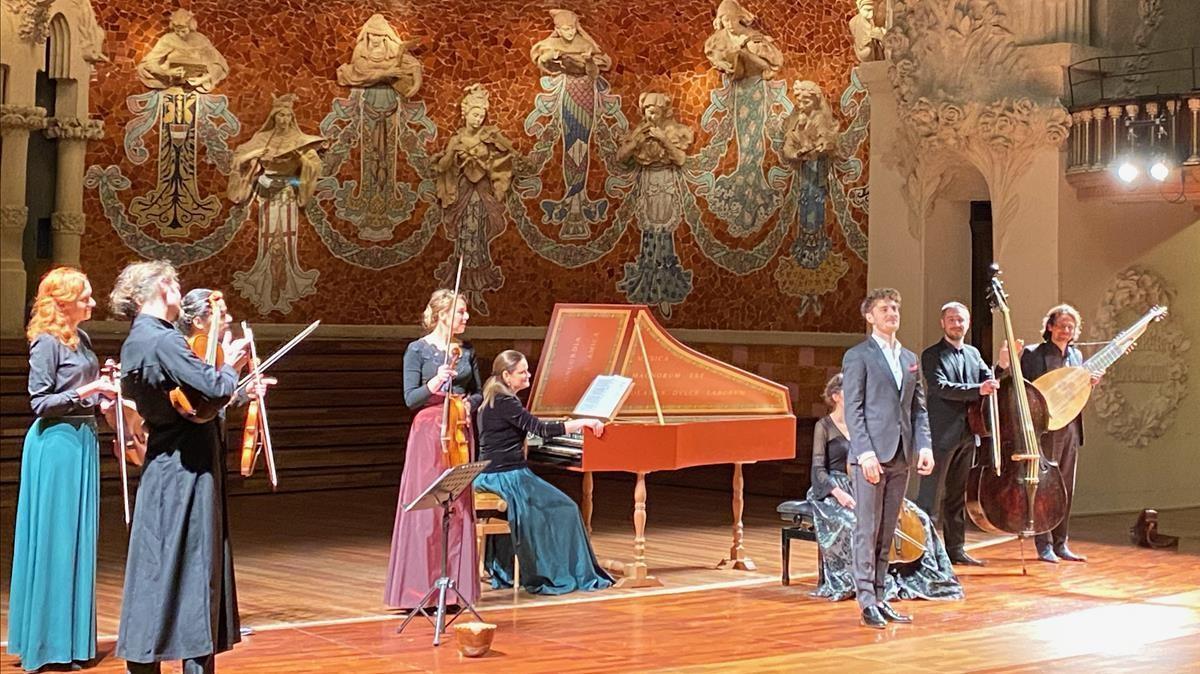 Jakub Józef Orlinski y el grupo Il Giardino d'Amore, el lunes en el Palau de la Música.