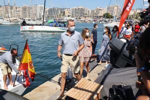 El Rey concluye su participación en la 39 edición de la Copa del Rey Mapfre de vela