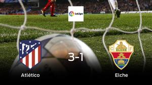 El Atlético de Madrid gana 3-1 en su estadio frente al Elche