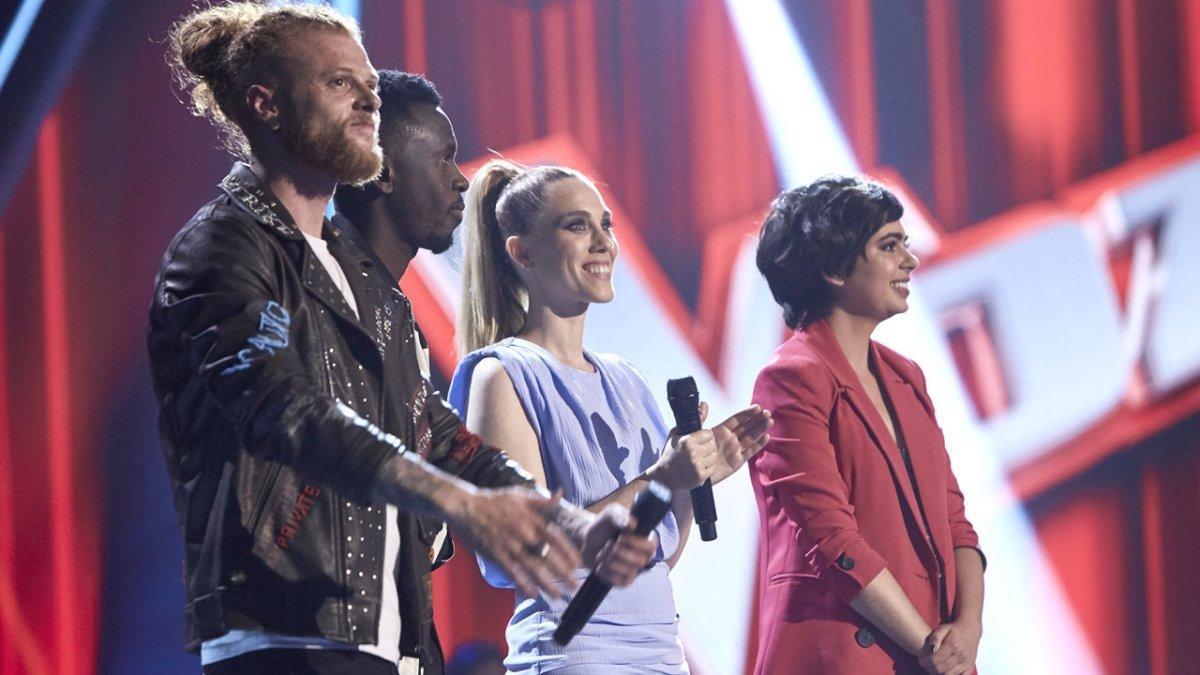 Curricé, Kelly, Johanna Polvillo y Paula Espinosa, finalistas de 'La voz' en Antena 3.