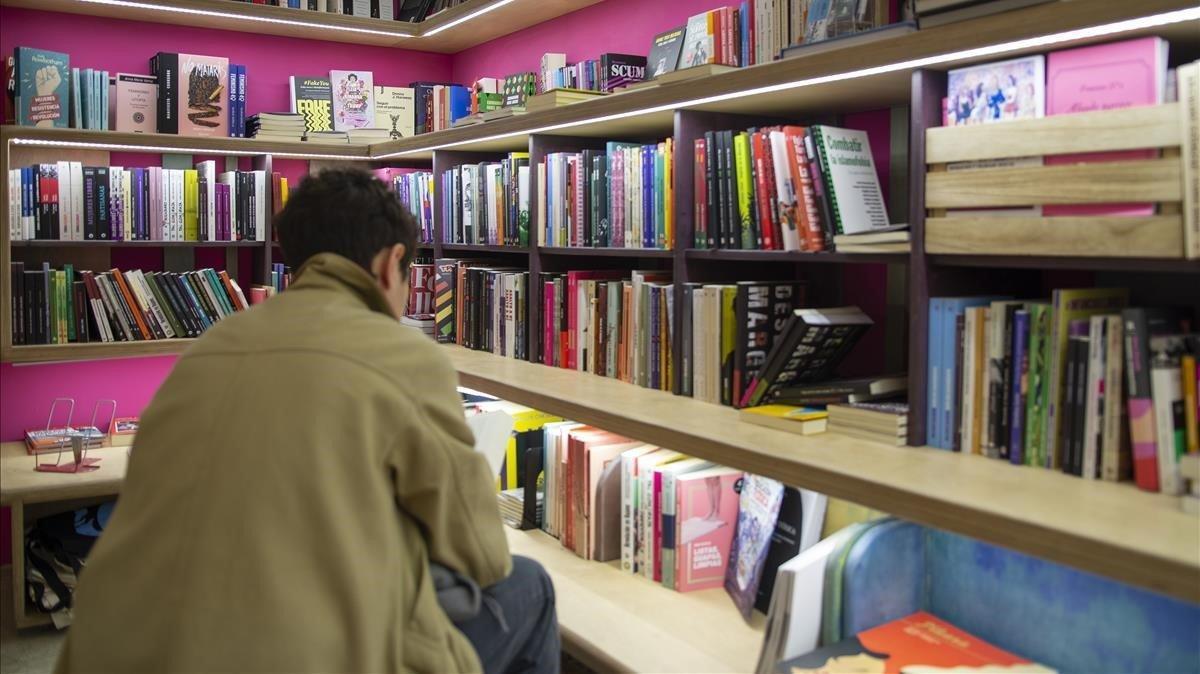 Una librería barcelonesa, en una foto de archivo.