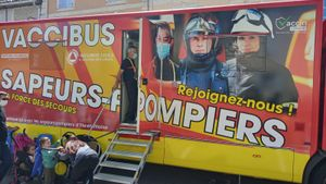 Els bombers vacunen al Tour de França