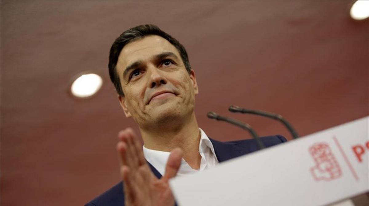 Pedro Sánchez ha declarado que se siente fuerte para formar un gobierno progresista.