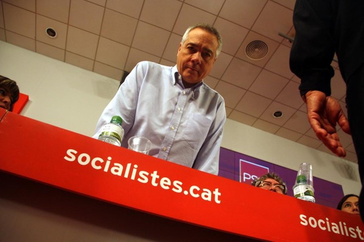 Pere Navarro, en la reunión del consejo nacional del PSC.