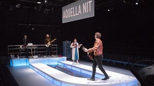 Representación de una comedia en la Villarroel, protagonizada por Ivan Massagué y Marta Bayarri, en enero.