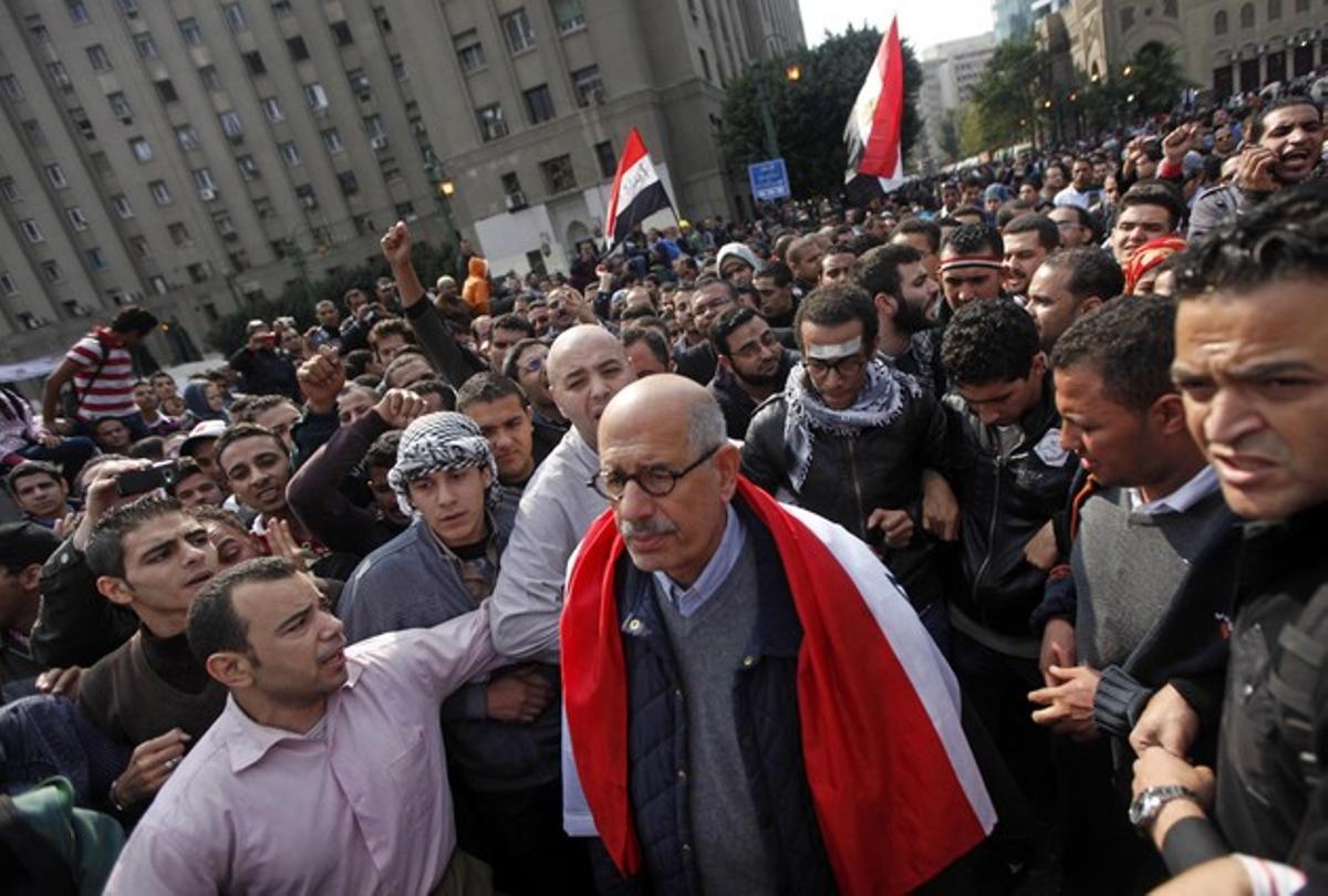 El primer ministro de Egipto, Mohamed El Baradei