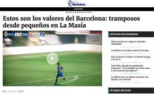 """El OK Diario se enzarza contra los alevines del Barça (11 años) y los llama """"tramposos"""""""