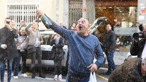 Celebrando el gordo en Reus.