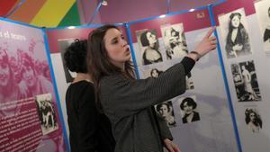 La ministra de Igualdad, Irene Montero, en una exposición en Madrid con motivo del 8-M.