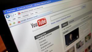 Página de Youtube vista en un ordenador personal.