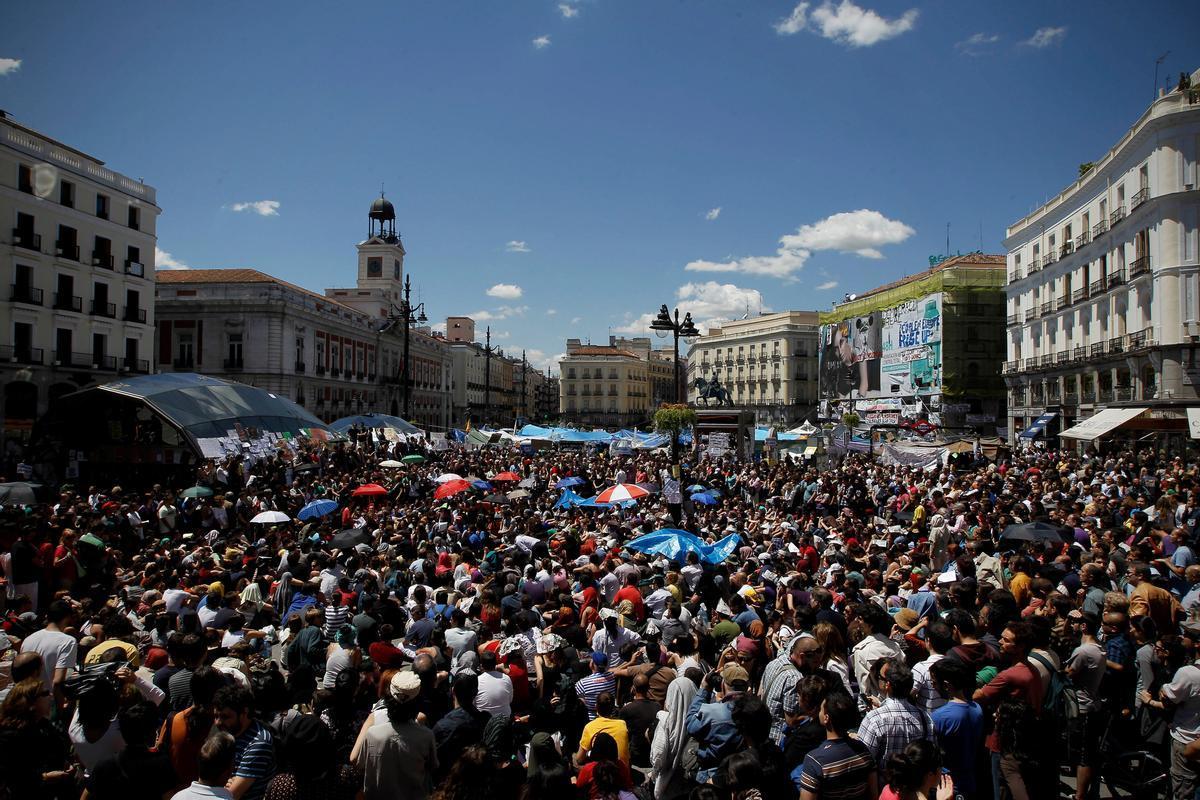 La Puerta del Sol de Madrid, en mayo de 2011