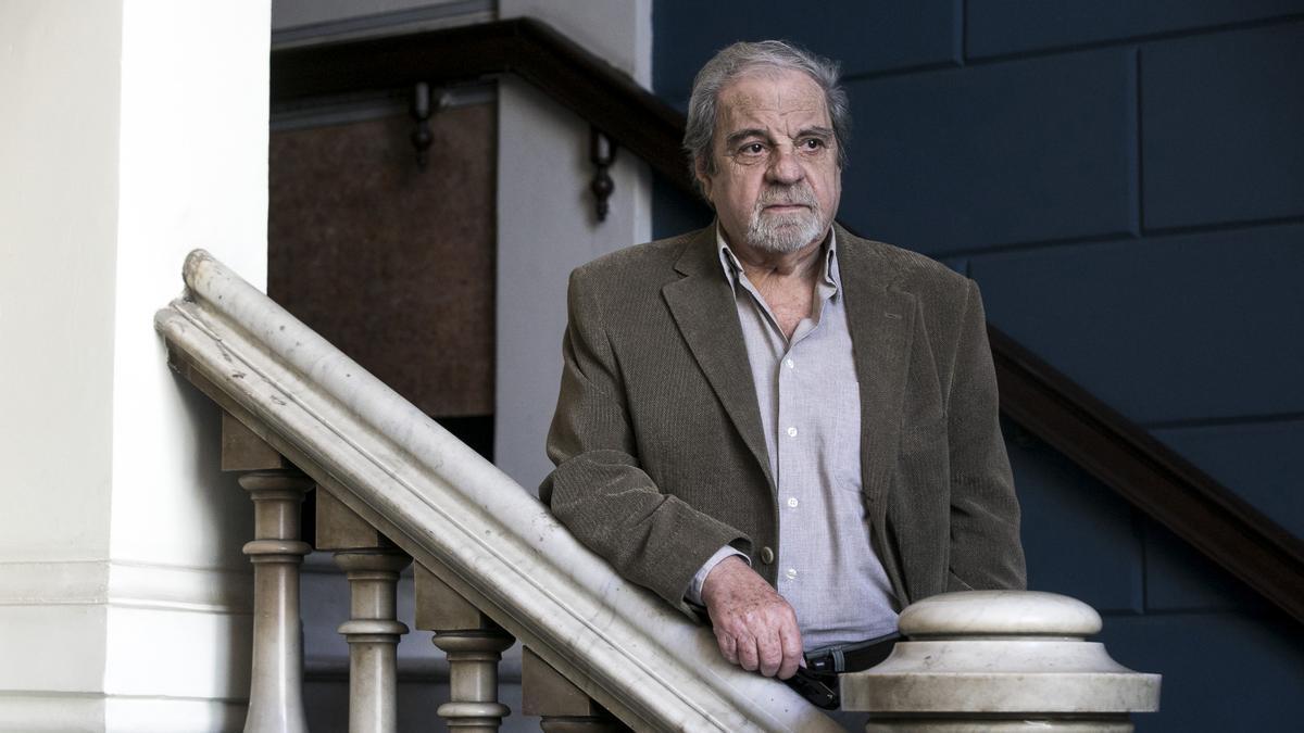El escritor Juan Marsé, en un céntrico restaurante barcelónes.