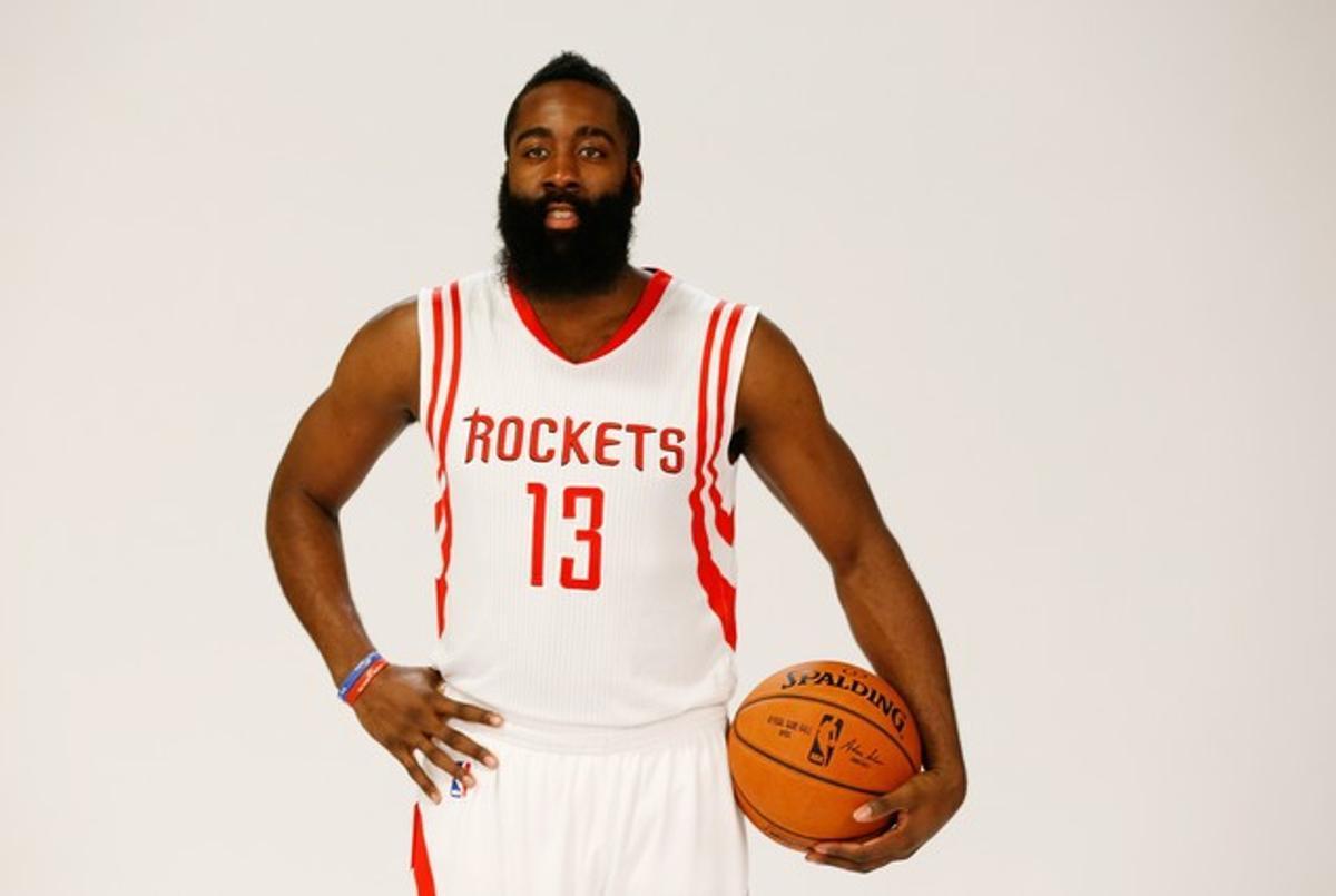 James Harden, el barbudo más famoso de la NBA.