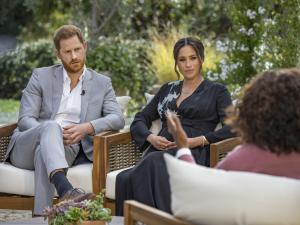 Los Duques de Sussex, durante la entrevista concedida a Oprah Winfrey.