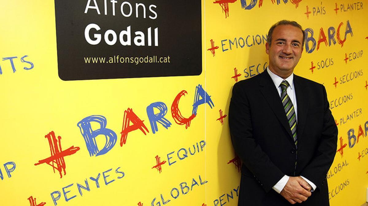 Alfons Godall, en el 2010, durante la presentación de su candidatura a la presidencia del Barça.