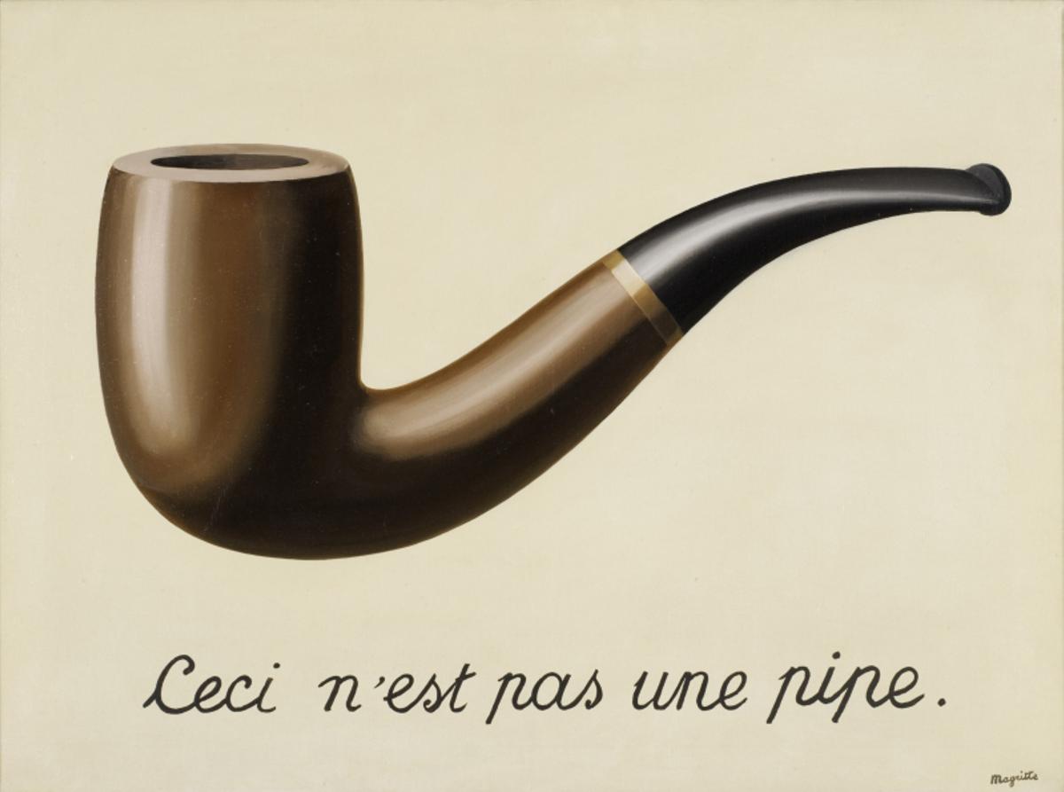 El mítico cuadro de Magritte hace de cartel de un curso.