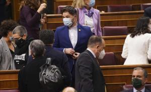 El diputado de ERC, Gabriel Rufián, durante la moción de censura