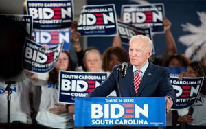 Joe Biden en un acto de campaña en los EEUU.