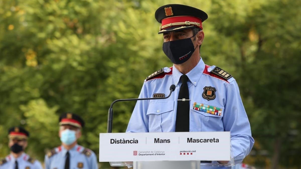 Trapero se reúne en Madrid con el jefe operativo de la Guardia Civil